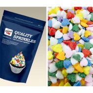 Rainbow Hearts Sugar Shapes