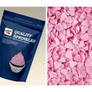 Pink Hearts Sugar Shapes