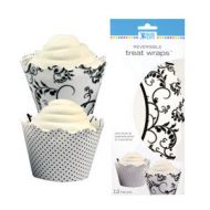 Black/White Cupcake Wrap