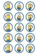 Minion Cupcake Edible Images