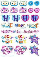 Hoot Icons Edible SHeet