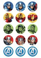 Avengers Cupcake Edible Images