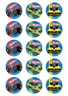 Hot Wheels Cupcake Edible Images