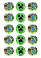 Minecraft Cupcake Edible Images