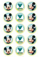 Mickey Mouse Cupcake Edible Images
