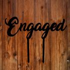 Engaged Black Acrylic Topper