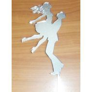 In His Arms Silver Acrylic Topper