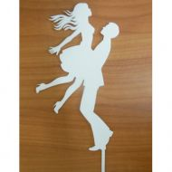 In His Arms White Acrylic Topper