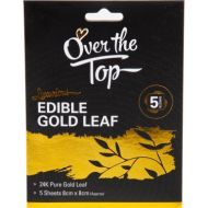 5 Pack Gold Leaf Transfer Sheets