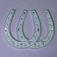 90mm Silver Double Horseshoe