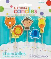 Jungle Animal Bday Pick Candle