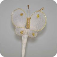 White-Gold Nylon  Butterfly