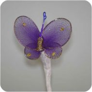 Purple-Gold Nylon Butterfly