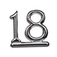 #18 Silver Double Numeral