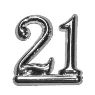 #21 Silver Double Numeral