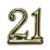 #21 Gold Double Numeral