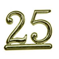 #25 Gold Double Numeral