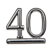 #40 Silver Double Numeral