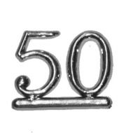 #50 Silver Double Numeral