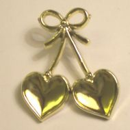 Gold Double Hearts & Bow.