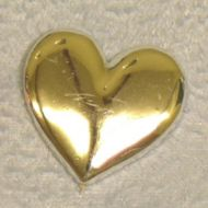 Solid Plain Heart Gold