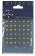Gold 5mm Edible Diamonds