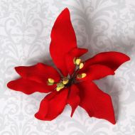 Poinsettia Red Sugar Flower