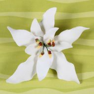 Poinsettia White Sugar Flower