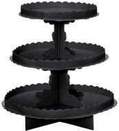 3 Tier Treat Stand Black