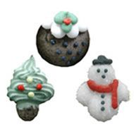 Assorted Christmas Cupcake Dec