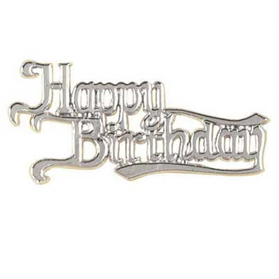 Silver Happy B'day Scroll