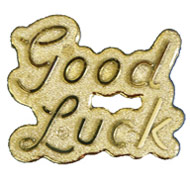 Goodluck Sign - Gold