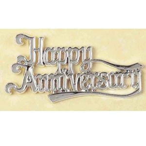 Silver Happy Anniversary Sign