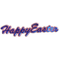 Happy Easter Script 8.5cm Long