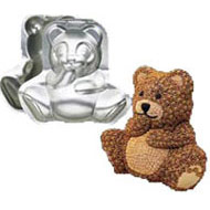 Wilton 3d Sitting Bear Tin Hire