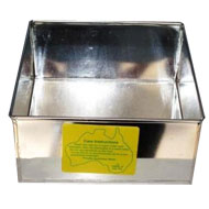 100mm. Square Tin  (4in.) Cake Tin Hire