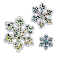 Holographic Snowflake Pack of 6