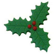 Small Green Sugar 3 Leaf Holly