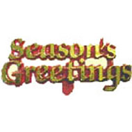 Seasons Greeting Red and Gold Sign