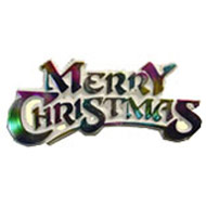 Rainbow Merry Christmas Sign